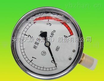 YA-150BF/Z/MF/0-1.6MPA/DN25 PN1.0 安徽天康壓力表
