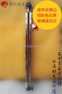 UGS-E国产品牌成丰仪表液位计,厂家【常州成丰】UGS系列彩色石英玻璃液位计