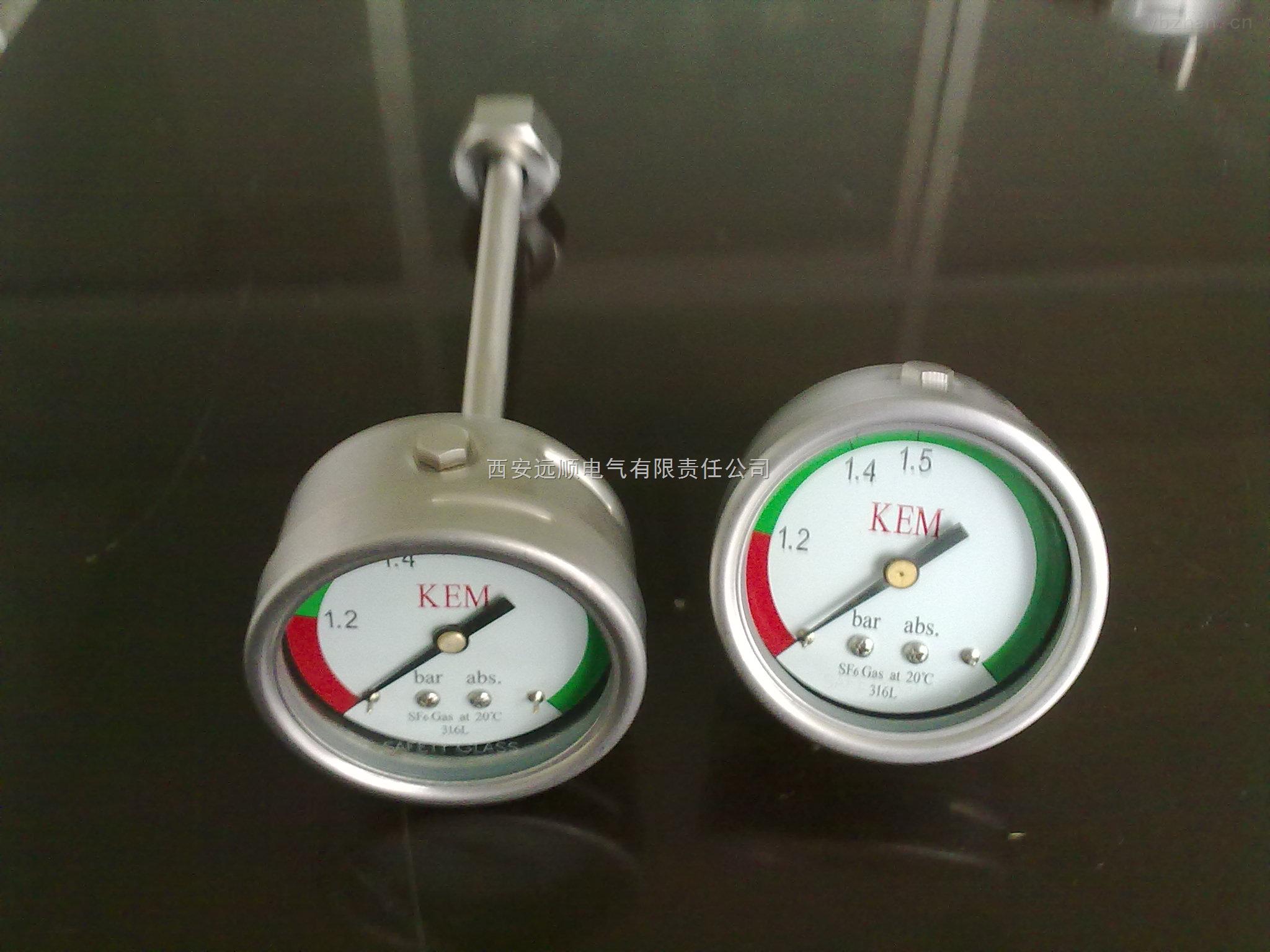 精密压力表SF6密度表供应带温度补偿ABB专用仪器仪表