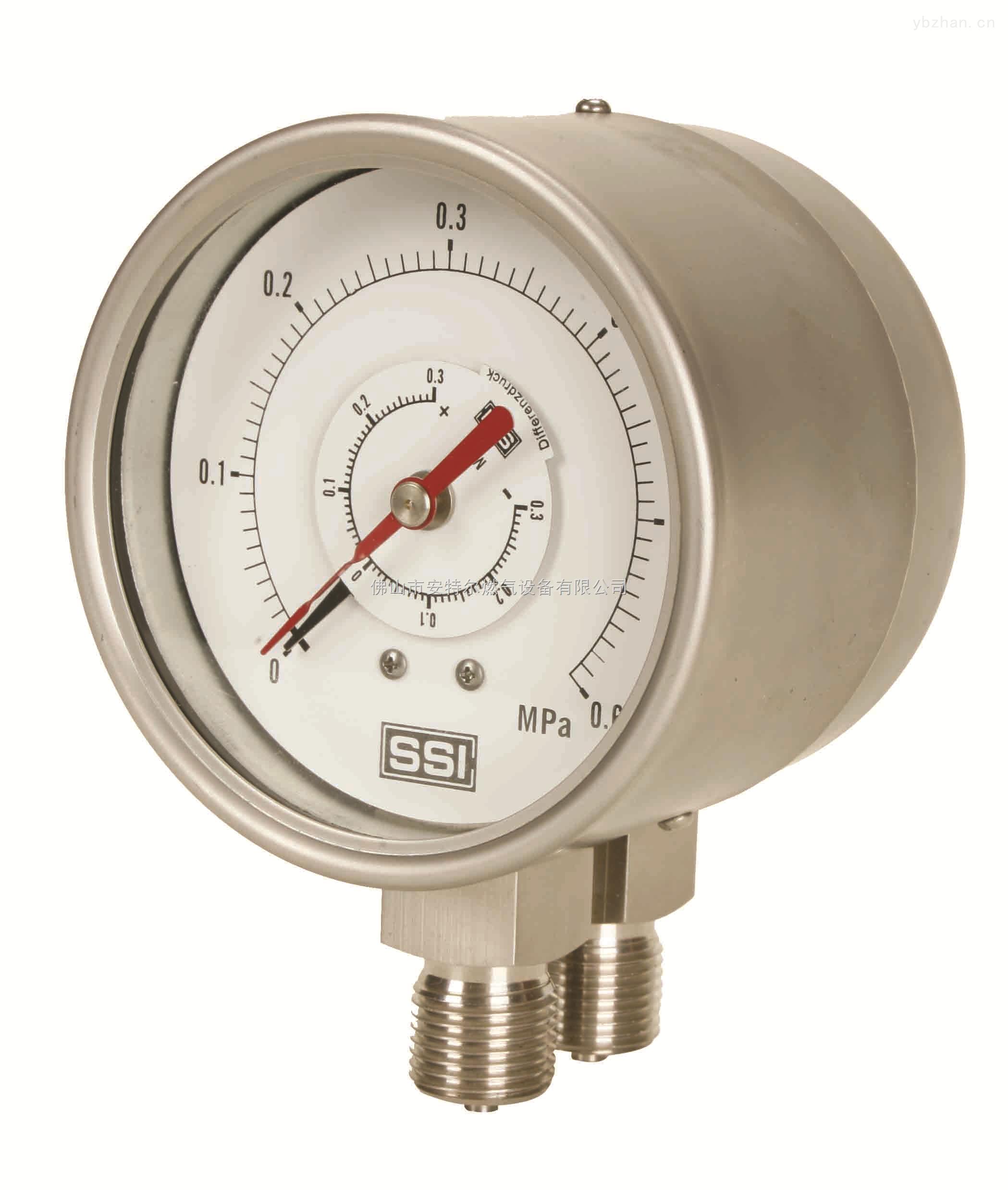 20KG-管道燃气压力表