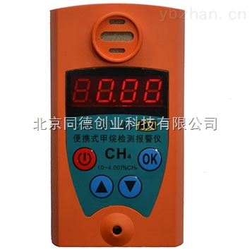 便攜式甲烷檢測報警儀JCB4