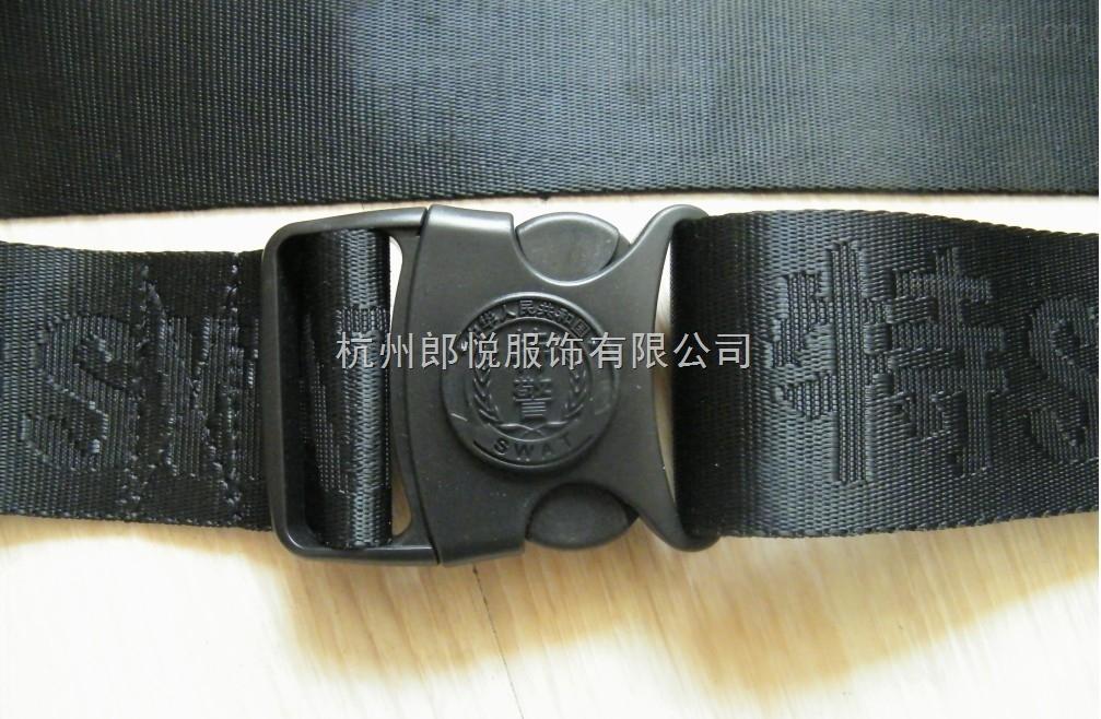 特井腰带黑色编织腰带作战腰带保安外腰带