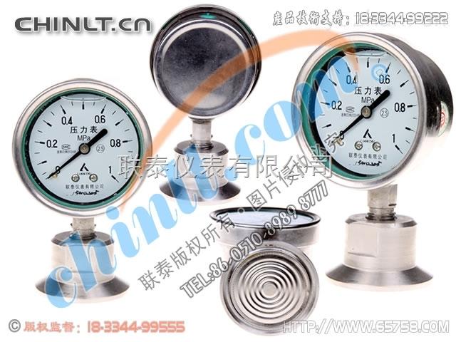 Y60B-FZ/MC(低压) 卫生型耐震不锈钢压力表