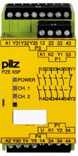 德国PILZ皮尔磁PNOZsigma安全继电器PNOZ s22 C 24VDC 2 x 3 n/o
