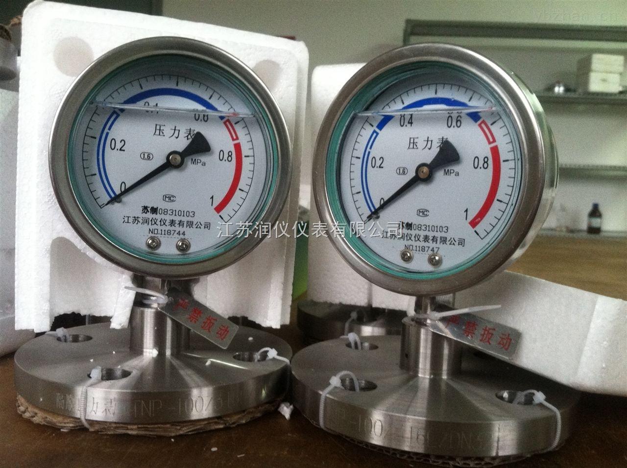YTNP150耐震隔膜壓力表
