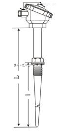 标准式固定螺纹锥形热电偶、热电阻