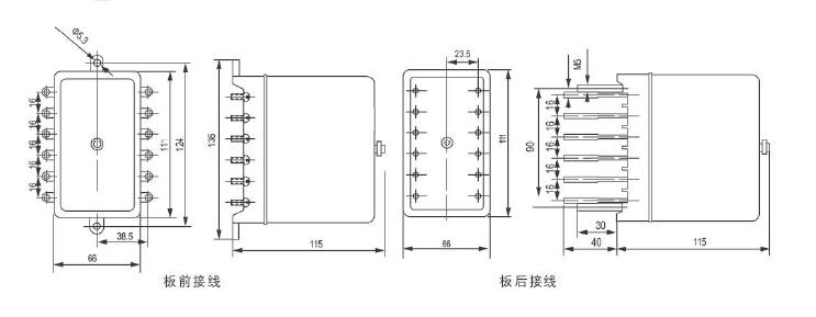 一、用途 ZJ4型中间继电器用于交流操作回路中,作为扩大主保护继电器的控制范围,或提高接点容量之用。新装可适用新型导轨壳体板前接线。 二、主要技术数据 额定电压:AC 220V、127V、100V或110V。 动作值:不大于80%。 返回值:不小于3%。 动作时间:不大于0.05s。 功率消耗:不大于6VA。 触点容量:在电压不超过250V,电流不超过5A,时间常数为5±0.
