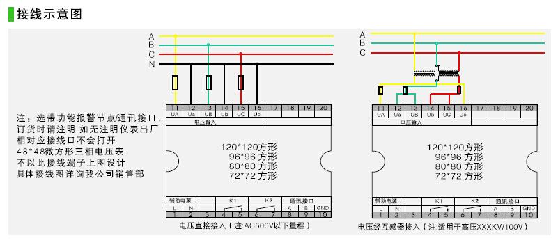 安装3只1.5(6)a电子表带互感器接线图