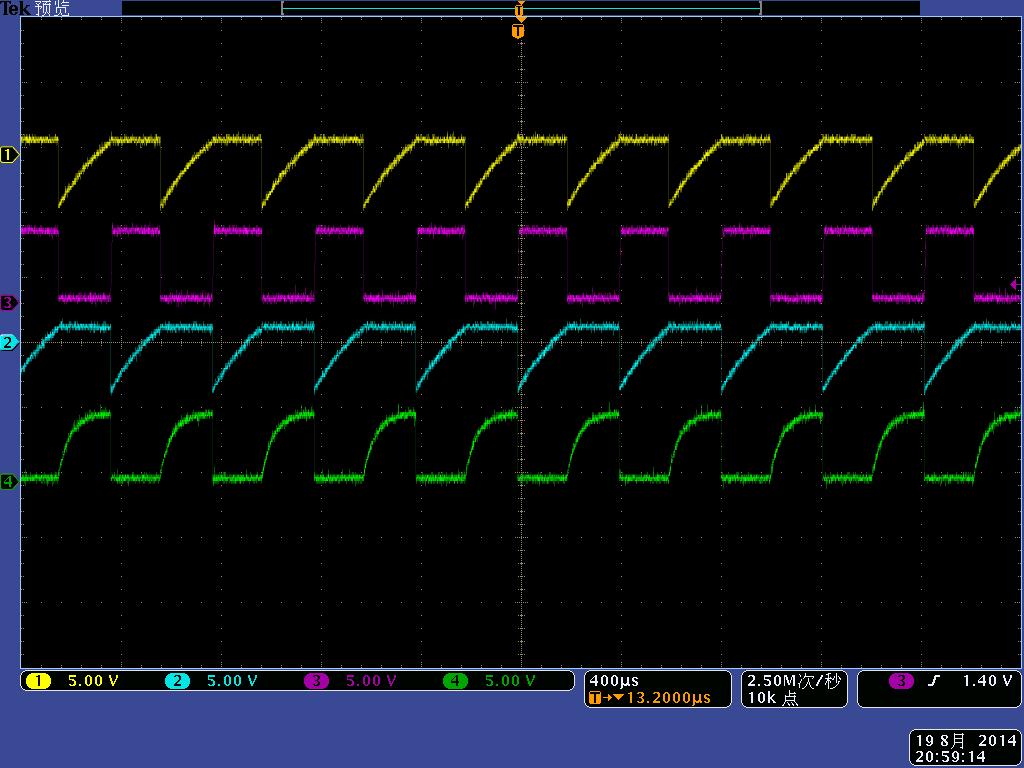 图1.3多谐振荡电路充放电波形