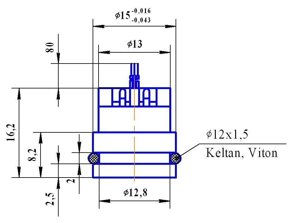 蓝宝石压力传感器概述: 该产品采用钛/硅-蓝宝石原理,结构合理,体积