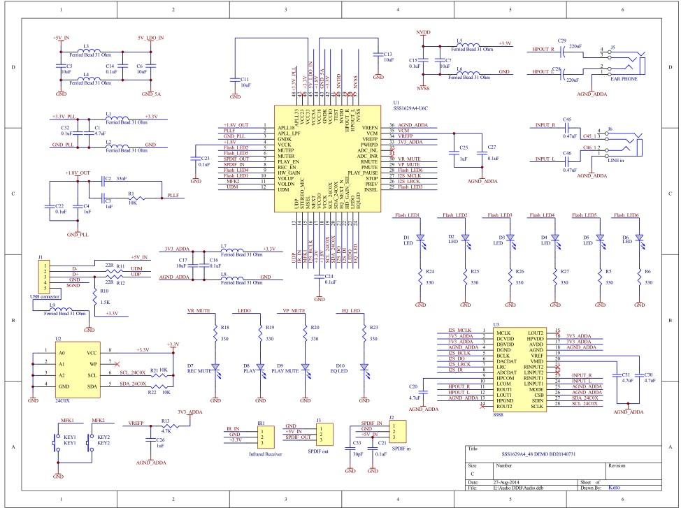 替代cm108|替代cm108b|电路设计|方案开发  4,有内部eq,3d,呼吸灯,交